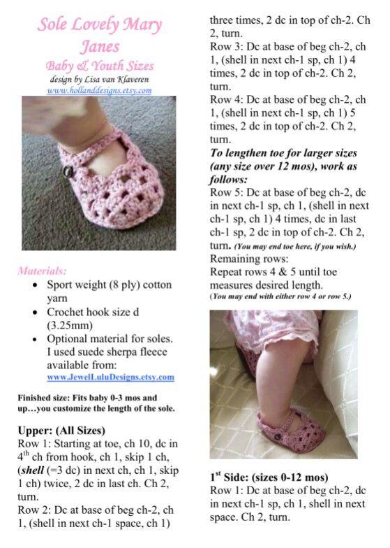 149 mejores imágenes de Crochet baby booties #1 en Pinterest ...