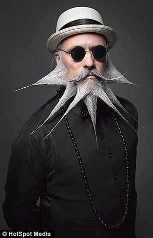 National Beard and Moustache Championships show off their prize-winning facial furniture: goatee bracket