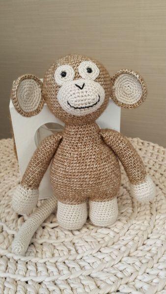 Patroon gehaakte aap van GeKleurde Draadjes op DaWanda.com