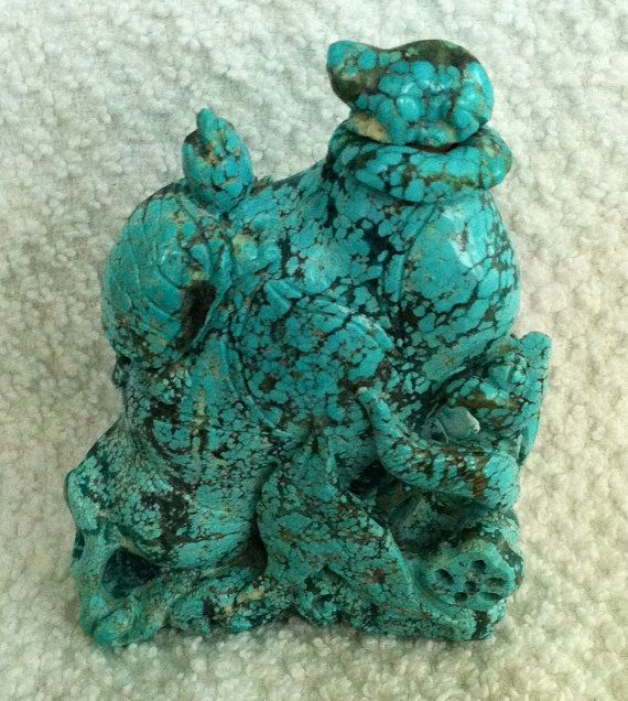 TURQUOISE  Snuff Bottle by MOSTLYOLDPAWN on Etsy