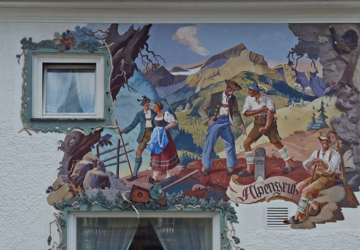 Lüftlmalerei-Garmisch 2 von Rosenzweig Toni