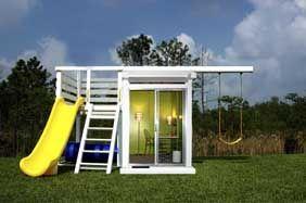 MetroPlay Swingset: Swing Sets, Idea, Swingset, Playset, Outdoor Room, Modern Playhouse, Kid, Play Houses