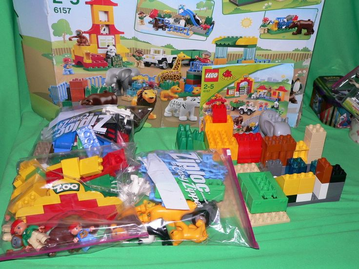 LEGO Duplo 6157 Big Zoo Set HARD TO FIND *USED*