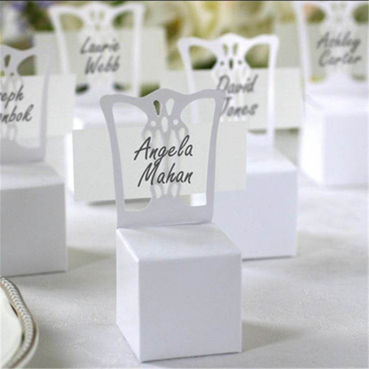 100pcs Lots Chair Place Card Holder And Favor Box Wedding Decoration