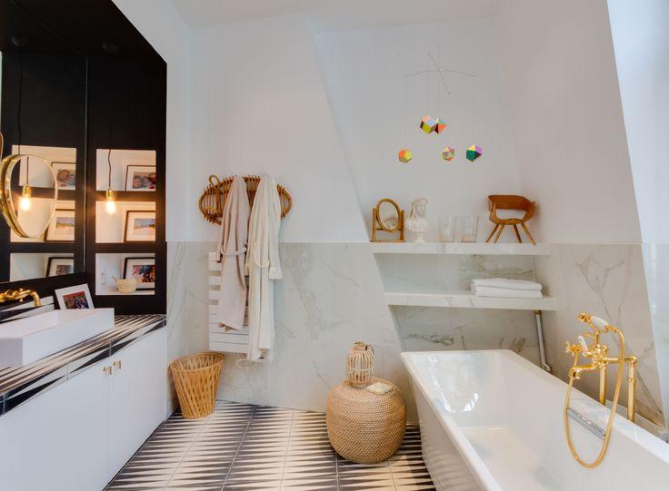 Salle de bain   Appartement parisien 240m2- GCG Architectes