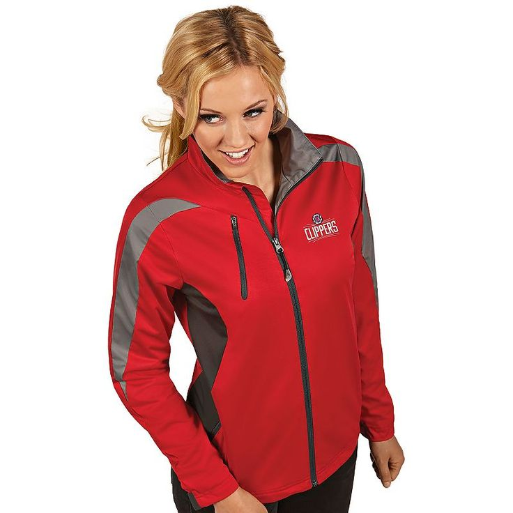 Women's Antigua Los Angeles Clippers Discover Pullover, Size: Medium, Dark Red
