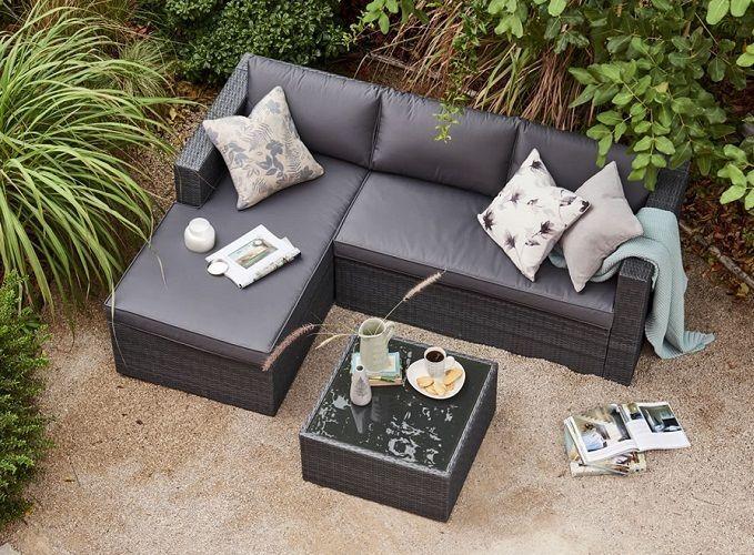 Rattan Patio Set Furniture Garden Sofa Corner Lounger Seat Chair Coffee Table UK #RattanPatioSet