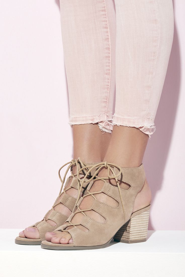 Lace-up suede sandals | Sole Society Rae