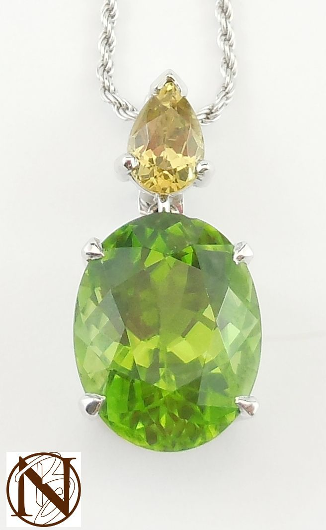#Peridot and #MaliGarnet - what a gorgeous colour combo!
