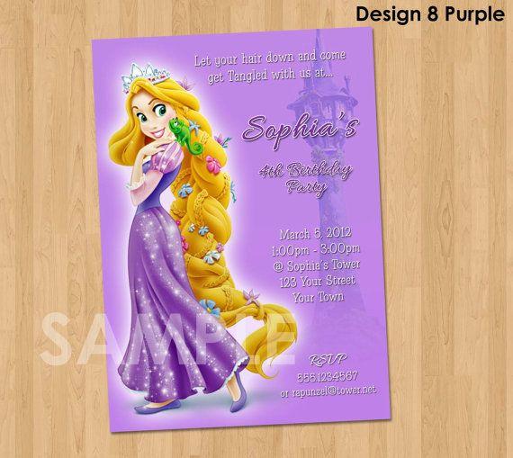 Tangled Birthday Invitation  Rapunzel by KidsPartyPrintables, $8.99