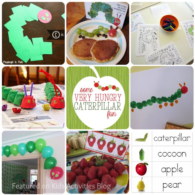 very hungry caterpillar treats, crafts & learning activities