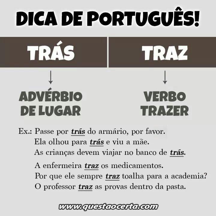 Dica de português!