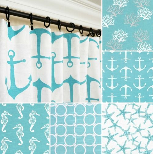 Coastal And Nautical Blue Window Curtain Panels That Can