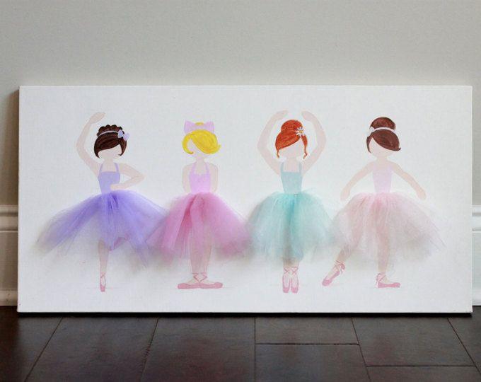 Ballerina Decor, Ballerina Decor van de kwekerij, meisje kwekerij decor ballerina kunst, Ballerina kinderkamer kunst, Baby Shower, Ballerina Wall Art
