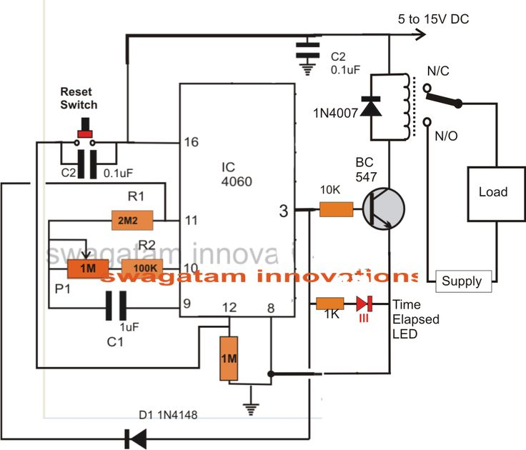 simple adjustable industrial timer circuit