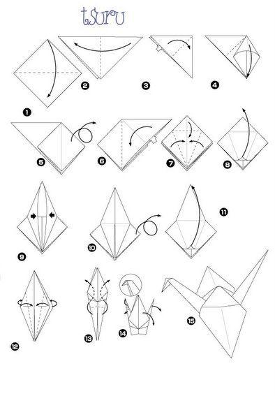 25  melhores ideias de origami tsuru no pinterest