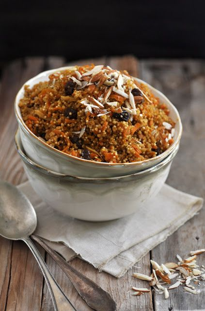 This quinoa salad would fulfil all the requirements for speedy bone healing: lots of plant-based protein from the quinoa and almonds, combined with anti-inflammatory cinnamon, ginger, chili and cumin.  This salad can be made in advance and eaten warm or at room temperature. Leftovers are good for lunchboxes the next day. Enjoy!