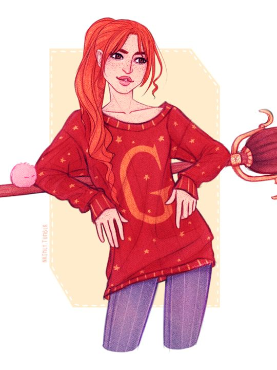 Ginny Weasley. Pinned by @lilyriverside