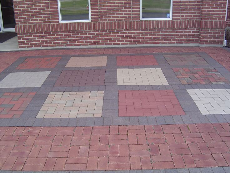 brick patio designs | Also seen out in front of our Mansfield location.
