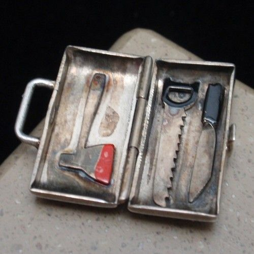 Dr x MD Medical Bag Charm Opens to Gory Tools Vintage Sterling Silver Enamel | eBay
