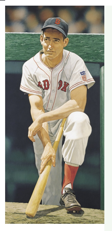 Ted Williams Painting by Arthur K. Miller