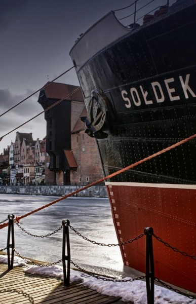 Famous ship - Sołdek which is now a maritime museum in Gdańsk