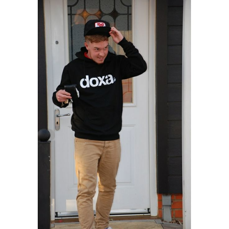 Doxa Text Print Lighter Weight Hooded Sweatshirt [ORGANIC]