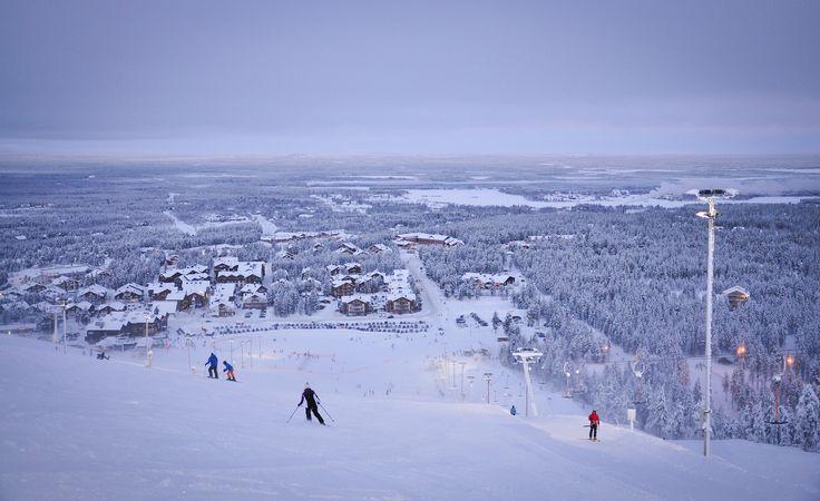 Levi Ski Resort, World Cup piste, Lapland Finland www.finnishtravelblog.com