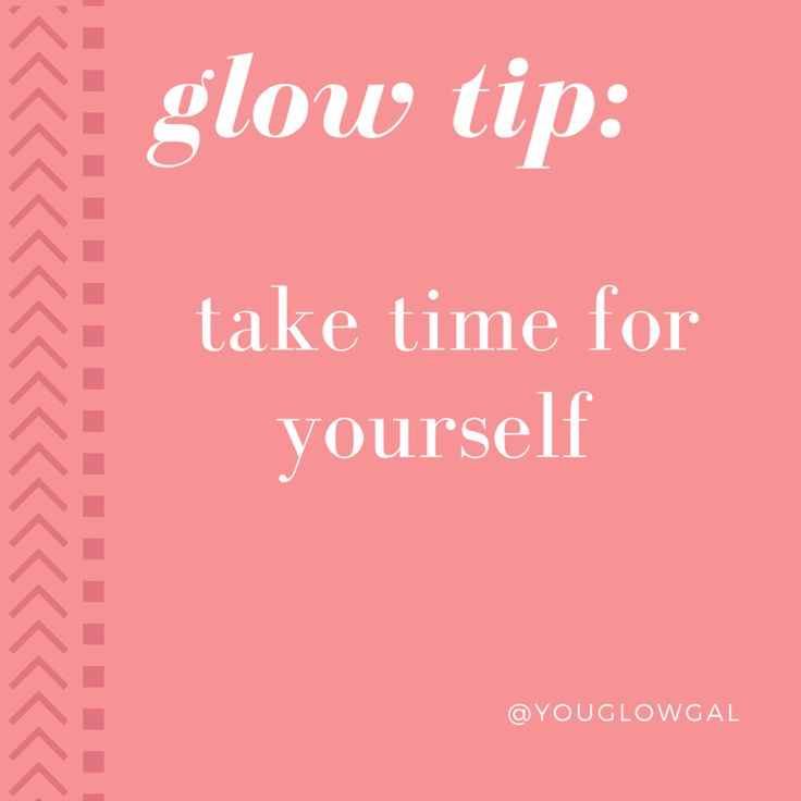 TAKE TIME FOR YOURSELF |  treat yo' self to a spa day or DIY at home, you deserve it.