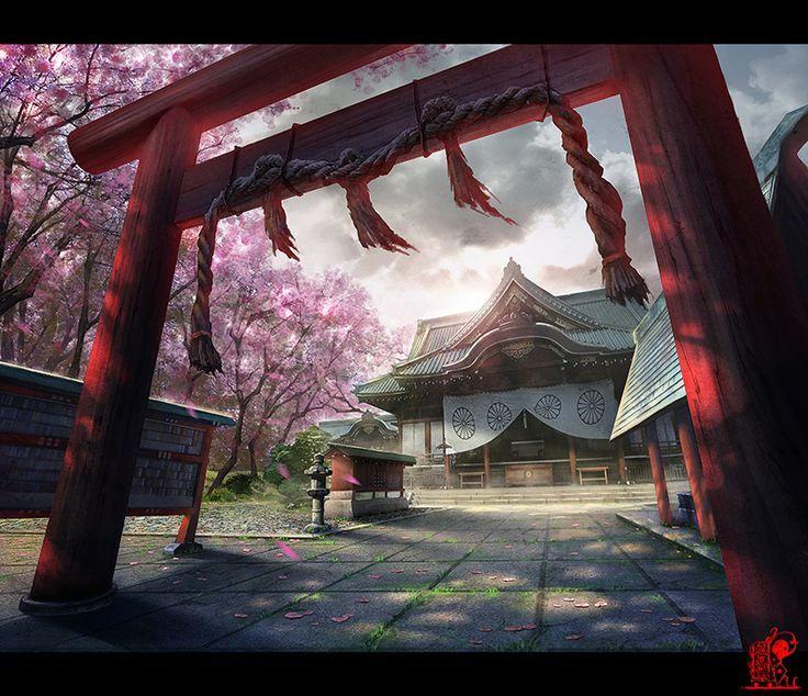 Fantasy Landscape Wallpaper: 17 Best Images About Japanese Fantasy Environment On