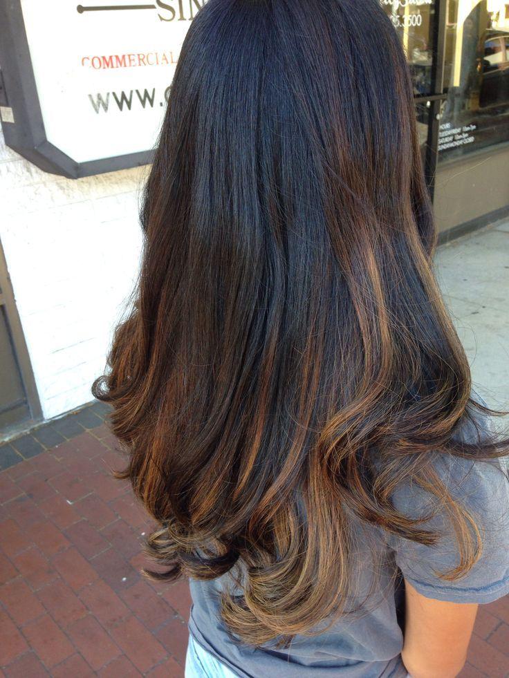 nice 50 примеров мелирования на черные волосы — короткие и длинные прически (Фото)