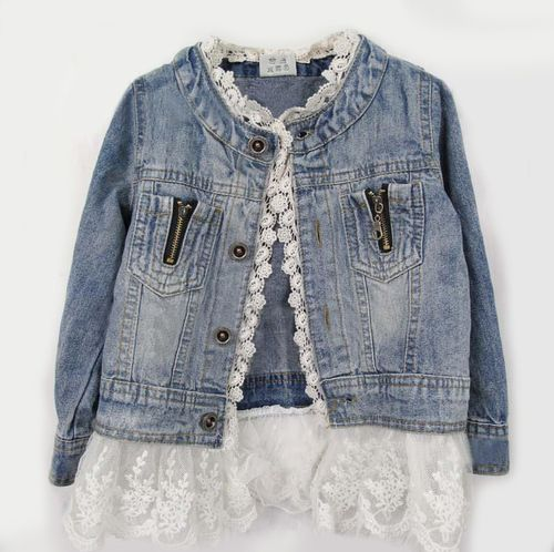 Lace Jean Jacket Can do this with one of my old jackets! Yes!