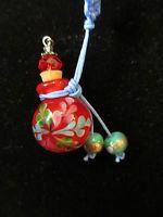 jewelry, perfume bottle, pendant, murano Venetian glass, red