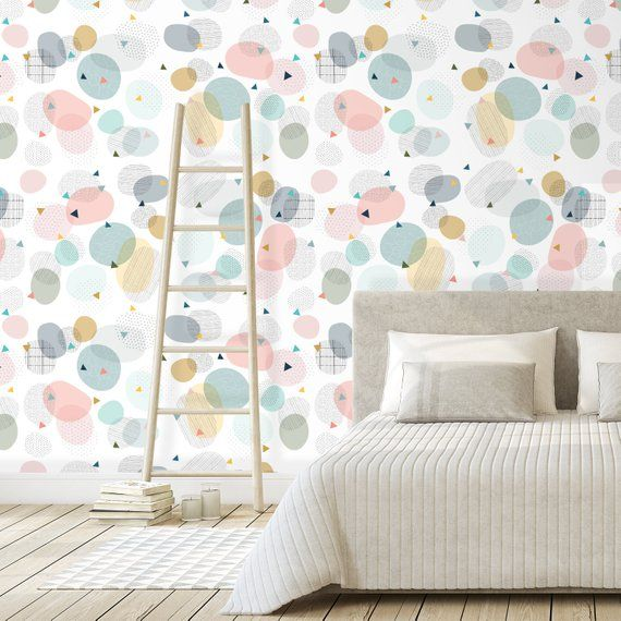Removable White Wallpaper Boho Wallpaper Hippie Wallpaper Etsy In 2020 Boho Wallpaper White Wallpaper Cool Kids Rooms