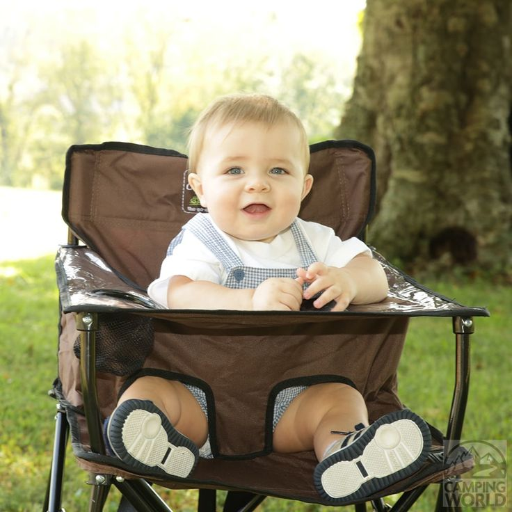 Baby Go-Anywhere-Highchair, Brown - Jamberly HB2004 - Folding Chairs - Camping World