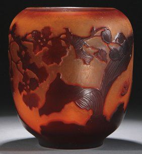 Galle French Cameo Art Glass Vase