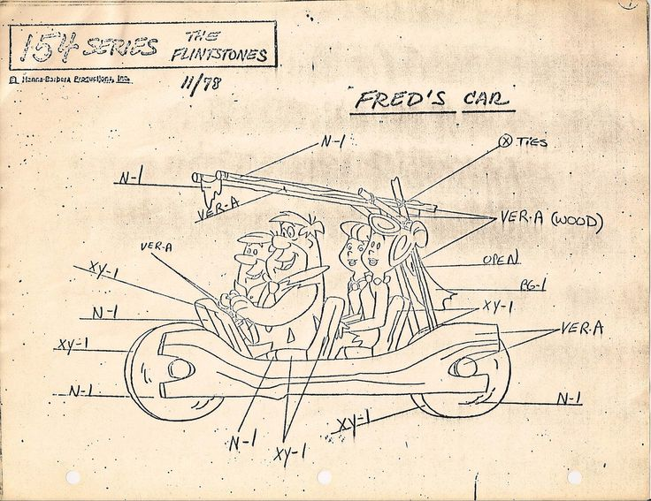 https://flic.kr/p/5i9AnK | HANNA BARBERA, Fred Flintstone's Car | Flintstones Animation Models