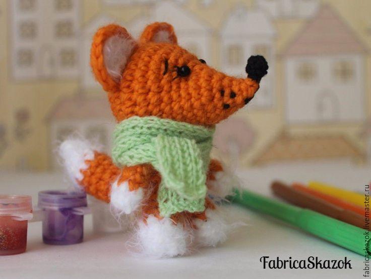 Купить Игрушка Лисёнок, связанный крючком - рыжий, лисенок, лисенок игрушка, вязаный лисенок, лиса