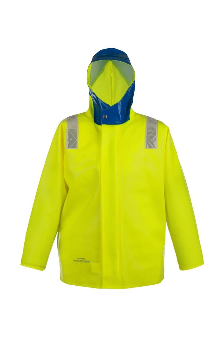 """КУРТКА ШТОРМОВАЯ ВЛАГОЗАЩИТНАЯ model: 3144 Куртка с центральной бортовой застежкой на тесьму – """"молнию"""", с ветрозащитной планкой. Рукава с внутренними манжетами. Призматические ленты на куртке обеспечивают защиту рабочих при плохой видимости. Куртка с двусторонними герметичными швами, выполнена из влагостойкой, прочной ткани Opalo. Рекомендуется для рыболовецких работ в тяжелых атмосферных условиях. Защищает от дождя и ветра. Ткань Opalo отличается большой стойкостью к соленой воде."""