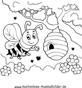 A A Bf A Bd D Aa Ca B Honey Bees on Honey Bee Beehive Coloring Page