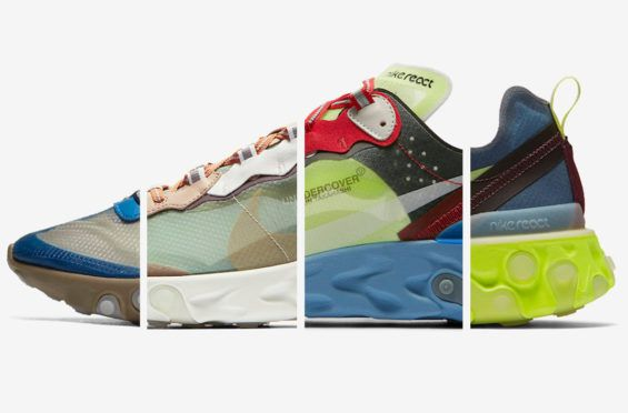 503a7fd18807 Official Images  UNDERCOVER x Nike React Element 87 Collection (Signal  Blue