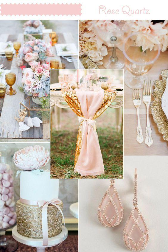 Te traemos ideas para la decoración de bodas en rosa cuarzo y azul serenity, la bellísima combinación de tonos elegidos como el color del año por Pantone.