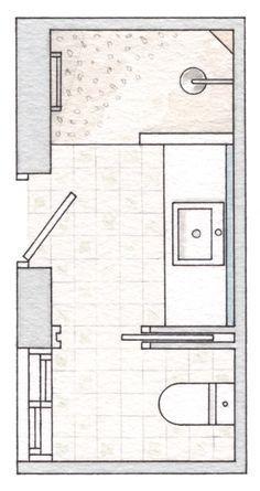 Resultado de imagen para diseño de baños con closet y planos en pinterest