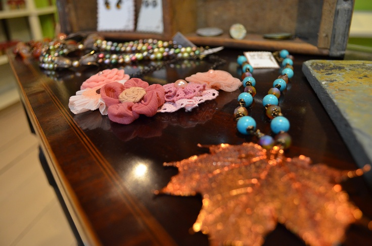 Love these necklaces from Heather DeBoe.  Can be bought in our gift shop.