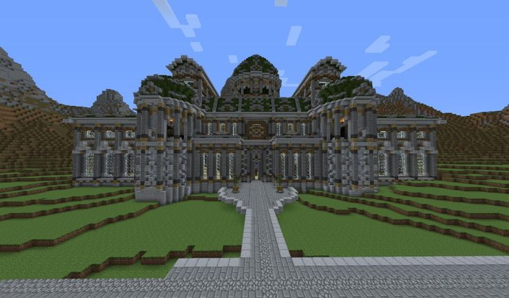 minecraft-palace-hillside