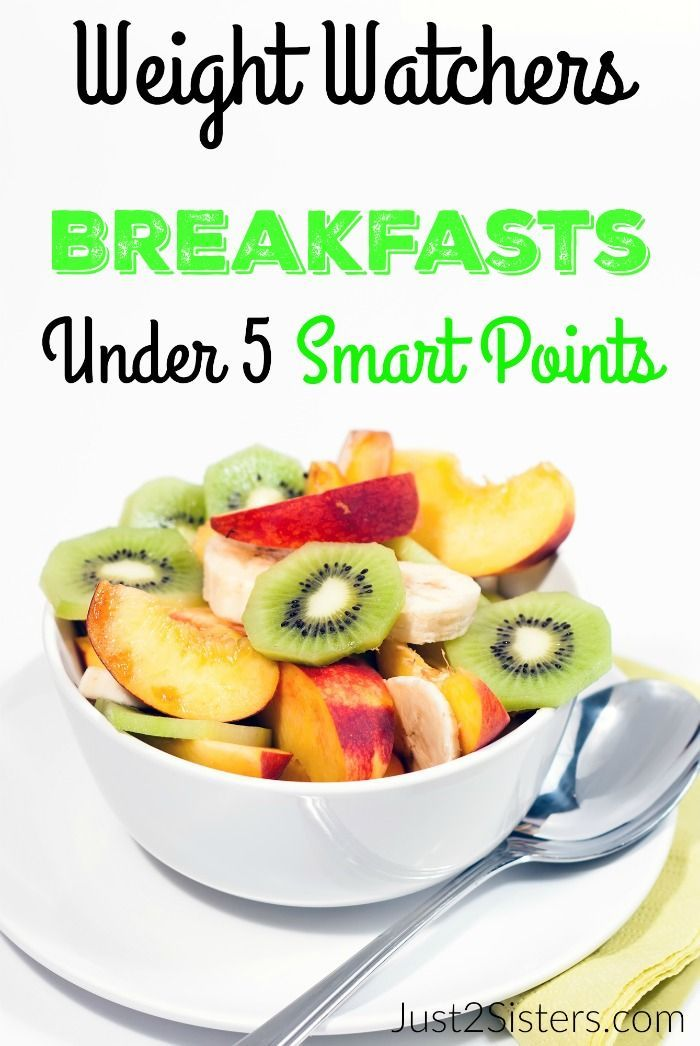 Weight Watchers Breakfasts Under 5 Smart Points just2sisters.com