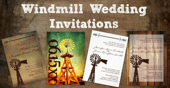 Wedding Invitations Country Theme: Windmill Wedding Invitations For A Country Style Wedding