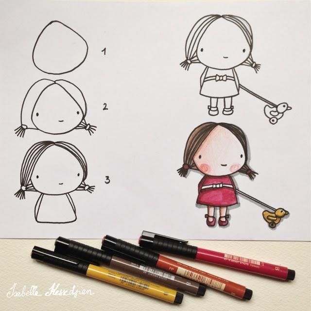 tuto dessin petite fille kawaii