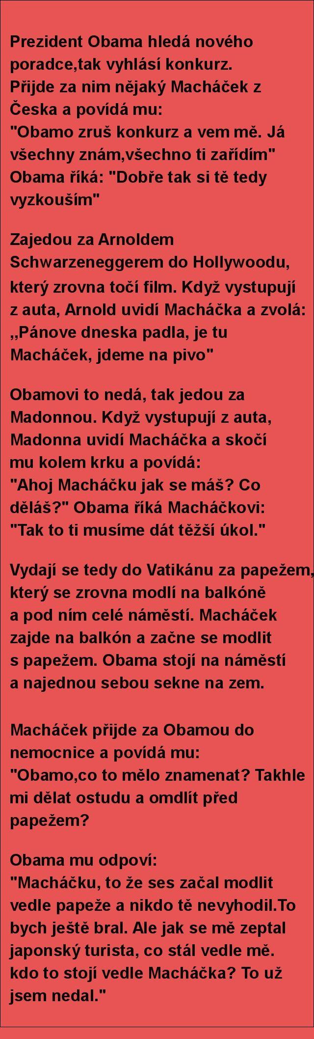 Prezident Obama hledá nového poradce,tak vyhlásí konkurz.. | torpeda.cz - vtipné obrázky, vtipy a videa