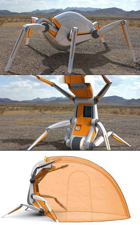 Top Ten Robots That You Never Knew You Wanted. #5: Croww 540 by Christopher Gloning. The year is 2057, and we have been banished to a fate of crossing hostile, difficult areas, such as deserts, ice-planes and rock-masses on foot, due to our bad karmas. To accompany us on the journey is the croww 540 - an autonomous attendant robot system that even even fans out a tent ... http://giftideasformen.professorsopportunities.com/
